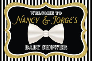 White Bow Tie Welcome Sign