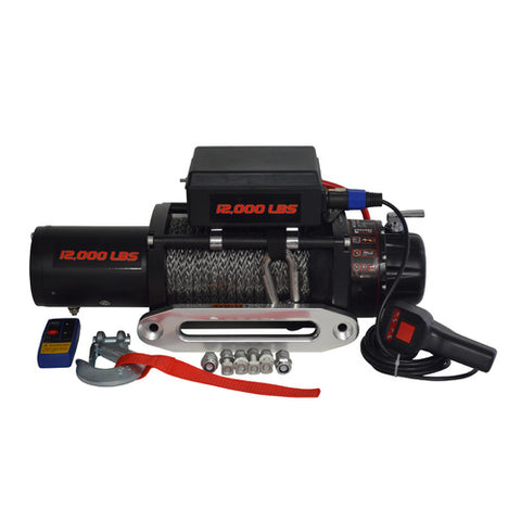 CARBON BR12 BACK ROADS WINCH - 12000LB ELECTRIC WINCH