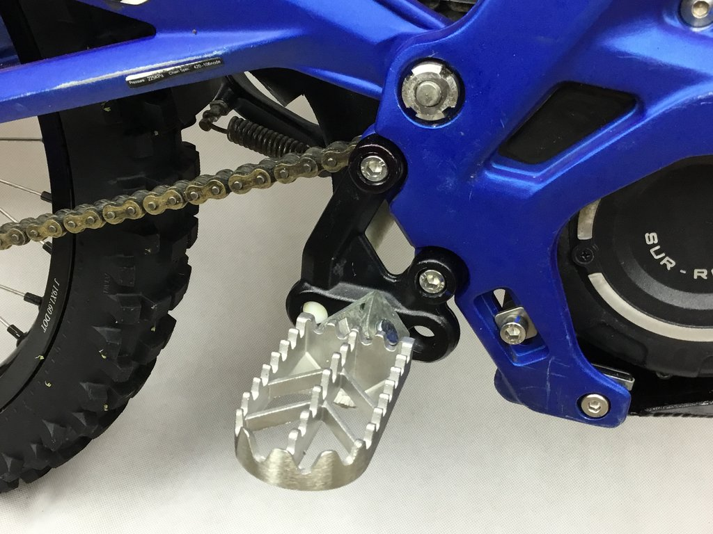 Surron/Segway Footpegs - Stainless Steel - Electric Dirt Bikes