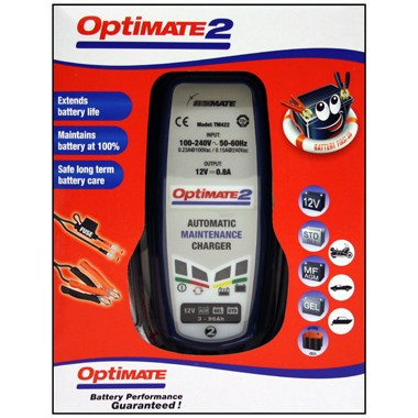 Optimate 2 Battery Maintainer - Electric Dirt Bikes