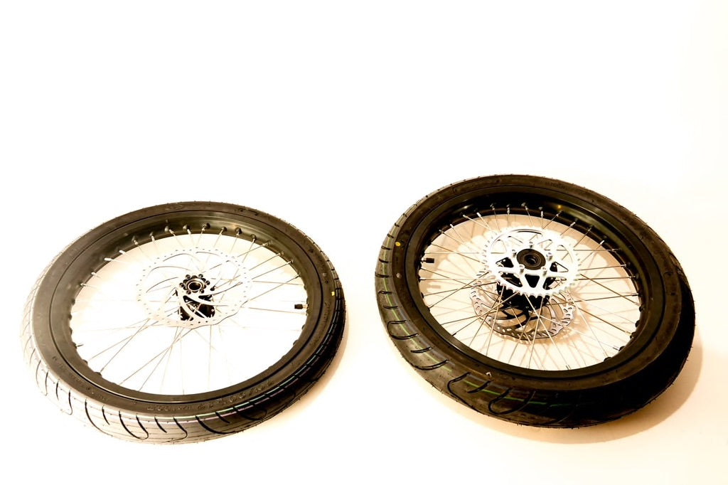 Surron SuperMotard Wheel set Complete - Electric Dirt Bikes