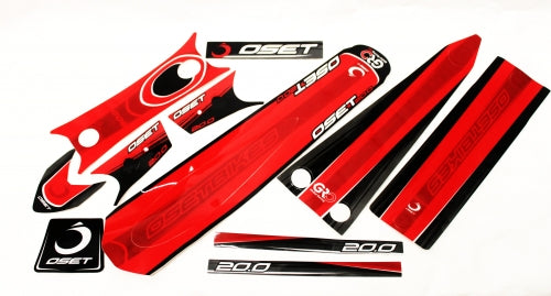 "Oset 20"" Sticker set - Red - Electric Dirt Bikes"
