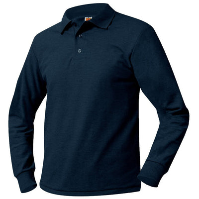PERF LONG SLEEVE POLO SHIRT W/LOGO (6238PERF)