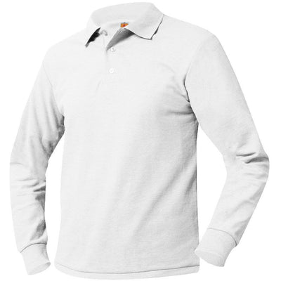 CGA LONG SLEEVE POLO W/LOGO (8748CGA)