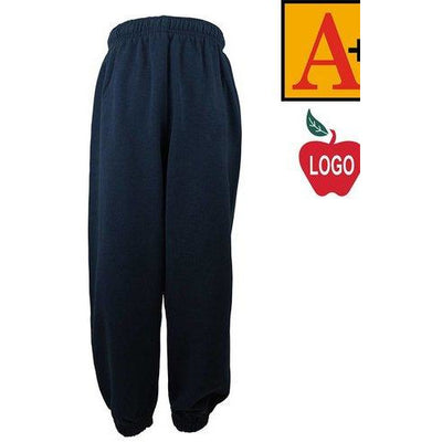 NAVY GYM SWEATPANT W/LOGO