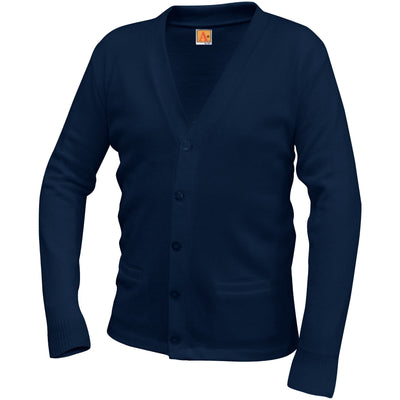PLAIN V-NECK CARDIGAN-PLEASE SELECT COLOR FOR YOUR SCHOOL