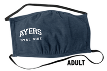 Load image into Gallery viewer, Ayers Ryal Side Fundraiser -  Heathered Navy  Face Masks