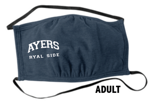 Ayers Ryal Side Fundraiser -  Heathered Navy  Face Masks