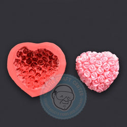 SPECIAL CONSTRUCTION MOLD HEART WITH ROSES