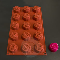 SILICONE MOLD ROSES 15 POSITIONS