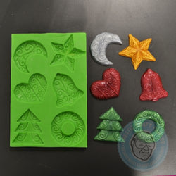 SPECIAL CONSTRUCTION MOLD X-MAS DECORATIONS