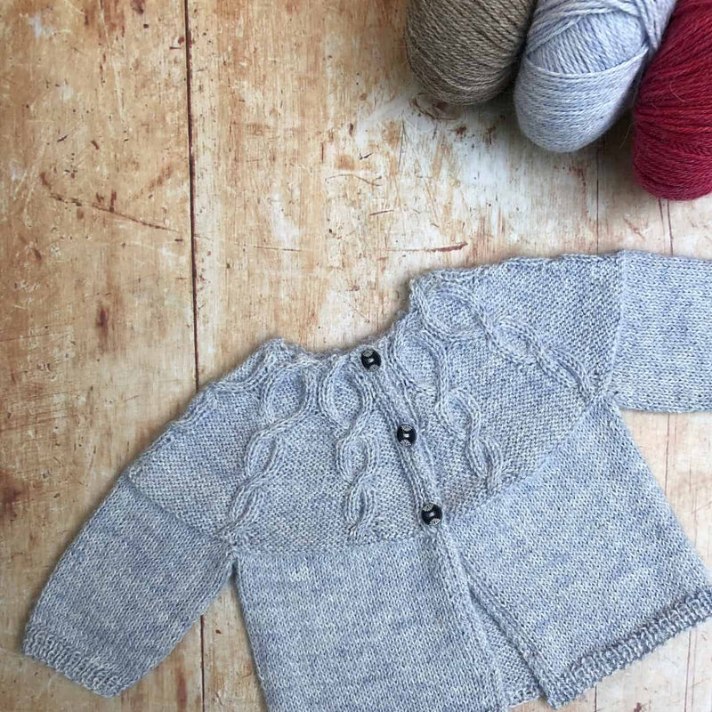 A hand-knitted baby cardigan to treasure