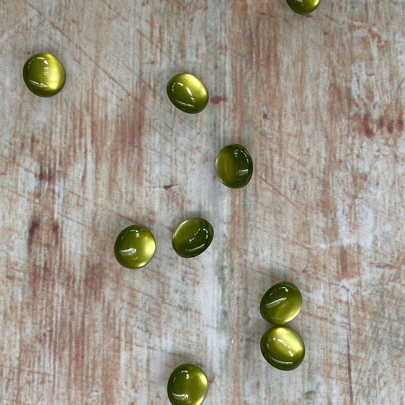 12mm Olive Coloured Glossy Button | Trimmings