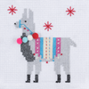 Mini Counted Cross Stitch Kit - Fleece Navidad Llama | Trimits