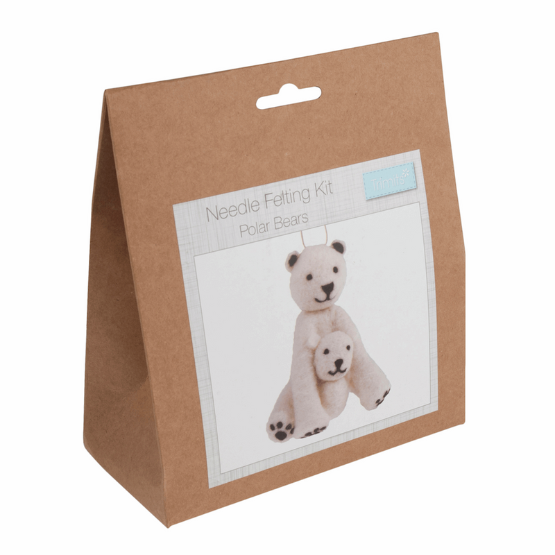 Needle Felting Kit - Polar Bear | Trimits