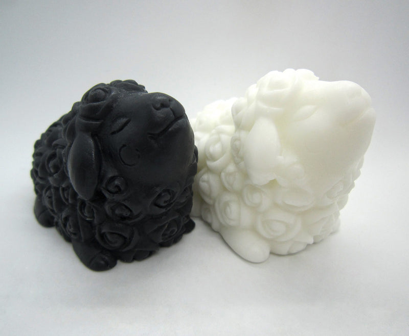 Sheep Soap Set - Black and White | 12 Quail Farm