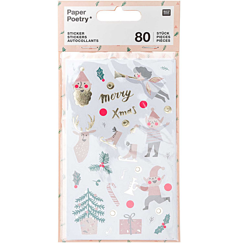Jolly Pastel Christmas Stickers