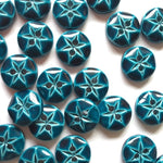 10mm Teal Round Button | TG10.2349