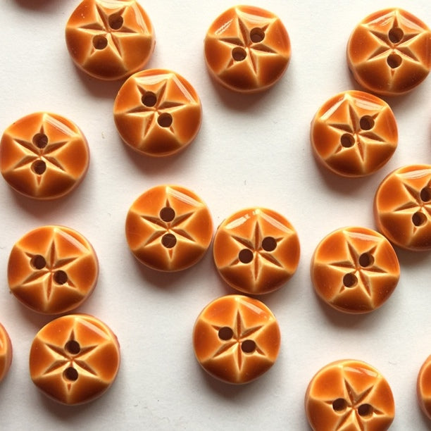 10mm Orange Round Button | TGB2789