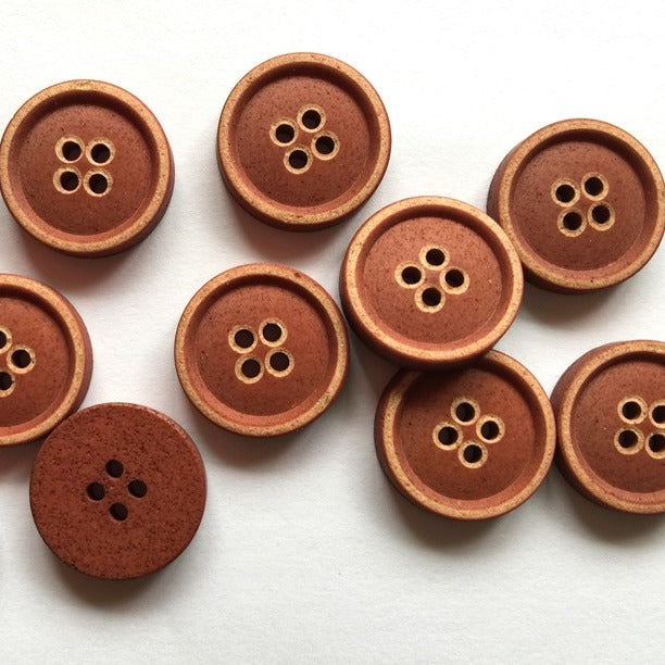 20mm Rust Imitation Wood Button | TGB2871