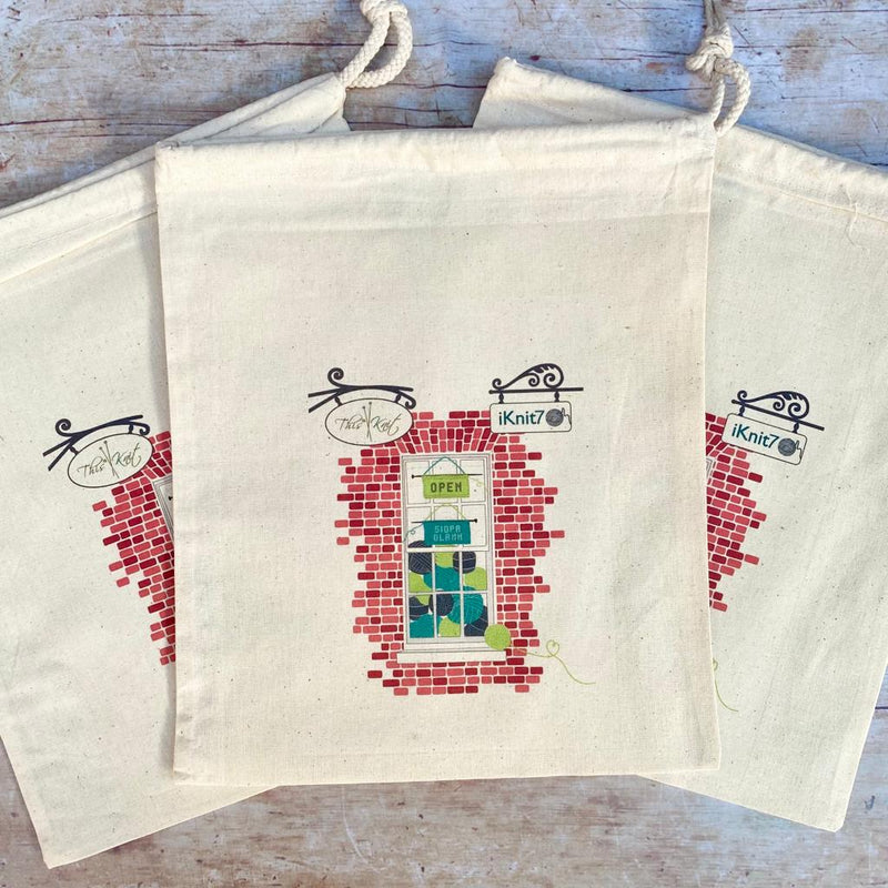 Drawstring Project Bag | This is Knit Shop Front