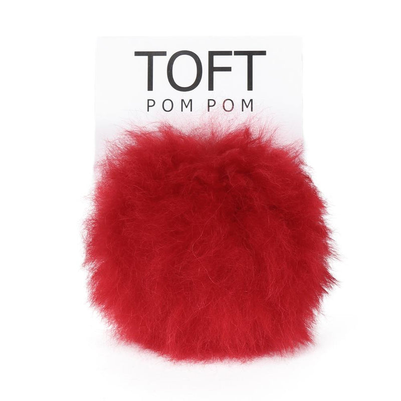 Alpaca Fur Pom Pom - Press Stud | Toft