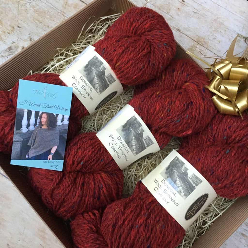 I Want That Wrap - Knitting Kit | Studio Donegal