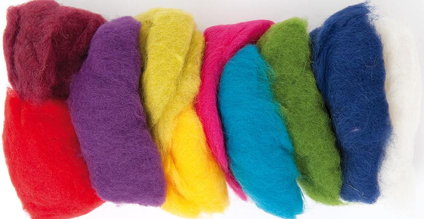 Rico Felting Wool - Assorted Brights