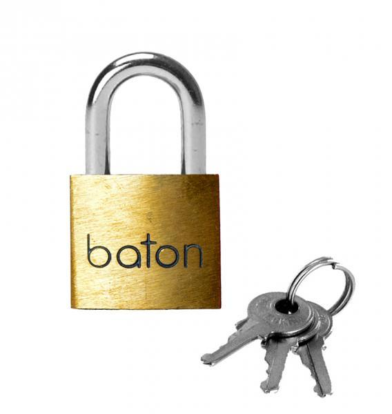 Baton Brass Lock with Release Keys