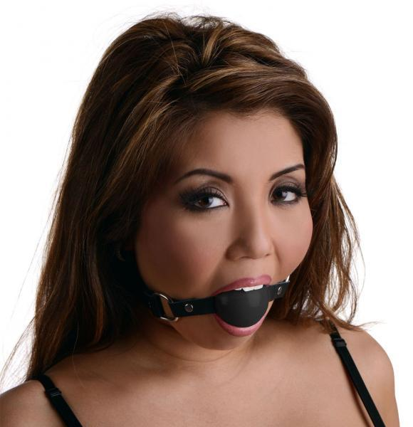 Black Silicone Ball Gag - Dick and Jane Emporium