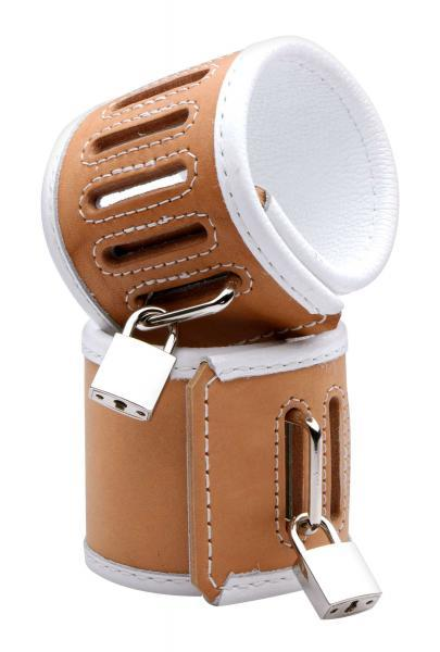 Tan Hospital Style Wrist Restraints