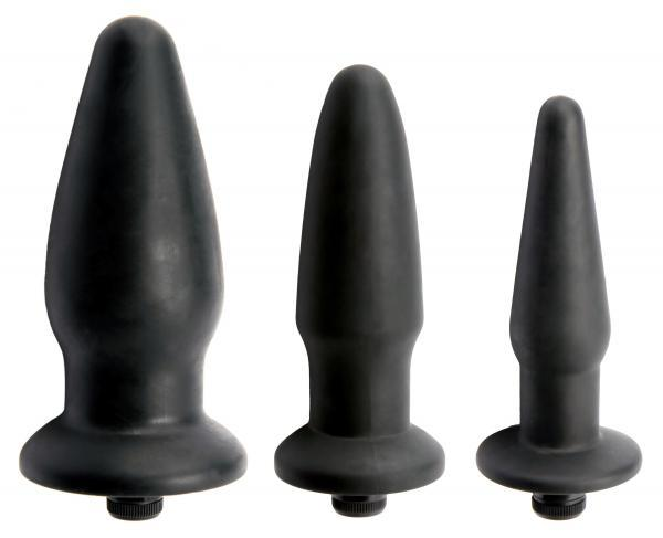 Trinity Silicone Vibrating Butt Plug Kit