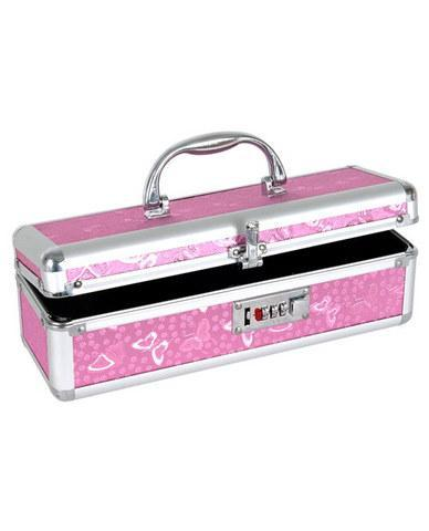 Lockable vibrator case - pink - Dick and Jane Adult Emporium