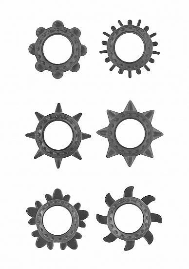 Cock Ring Set Black Cock Rings 6 Count