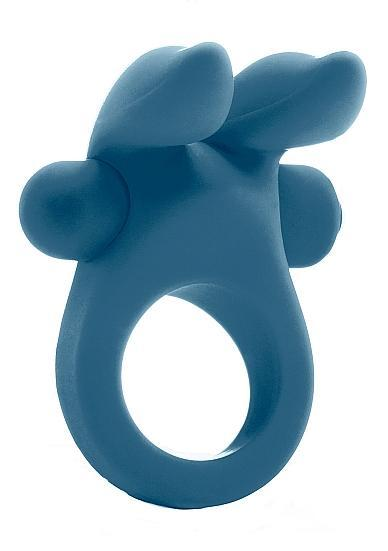Mjuze Bunny Vibrating Cock Ring Blue