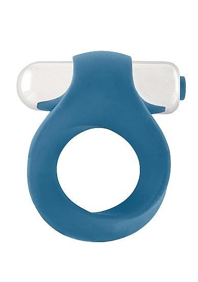Infinity Single Vibrating Cock Ring Blue