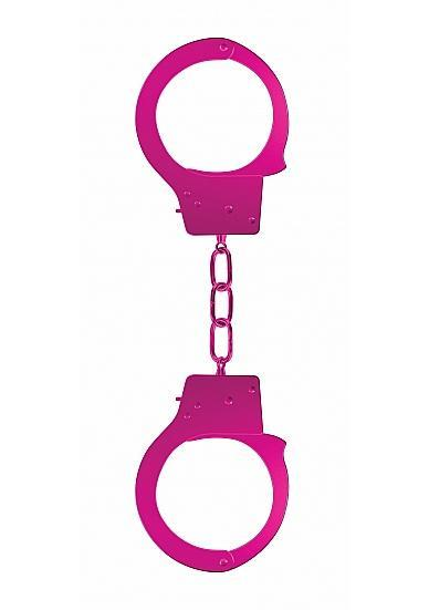 Ouch Beginners Handcuffs Metal Pink