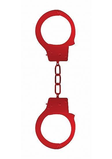 Ouch Beginners Handcuffs Metal Red