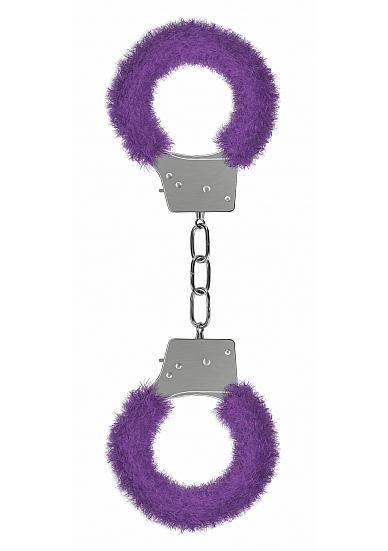 Ouch Beginners Handcuffs Furry Purple