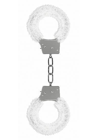 Ouch Beginners Handcuffs Furry White