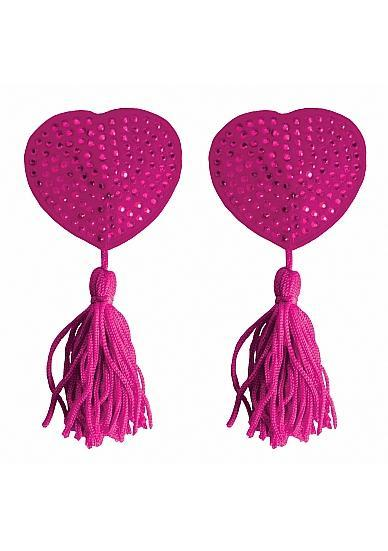 Nipple Tassels Heart Pink Pasties