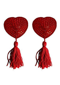 Nipple Tassels Heart Red Pasties