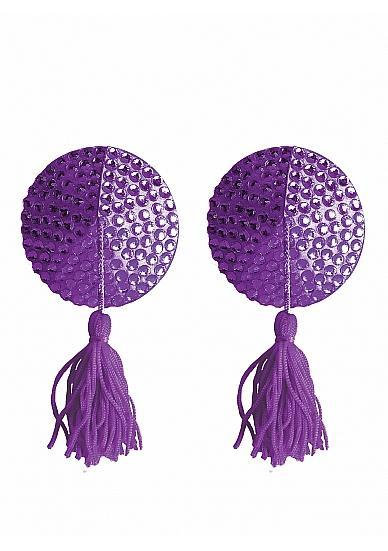 Nipple Tassels Round Purple