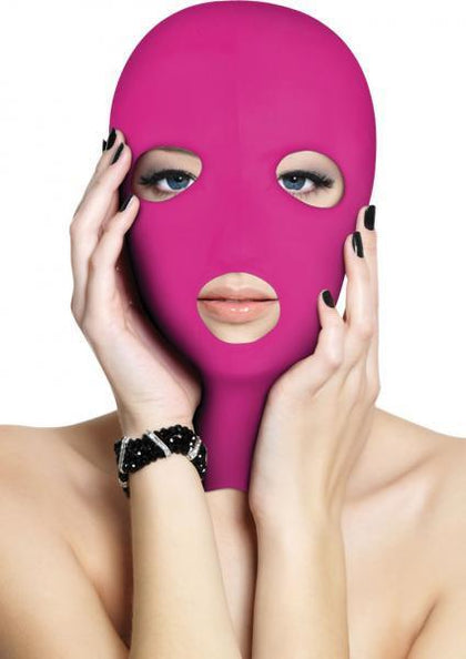 Ouch Subversion 3 Hole Hood Mask Pink O/S