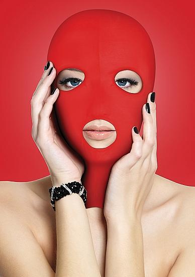 Ouch Subversion 3 Hole Hood Mask Red O/S