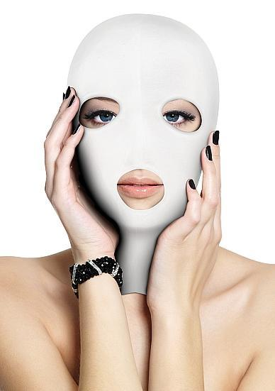 Ouch Subversion Mask 3 Hole Hood White