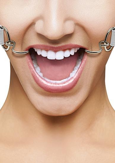 Ouch Hook Gag with Leather Straps White O/S