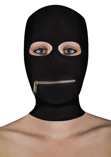 Extreme Zipper Mask With Mouth Zipper Black O/S