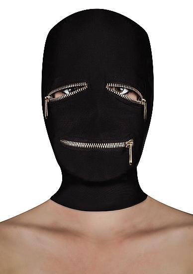 Extreme Zipper Mask With Eye And Mouth Zipper Black O/S