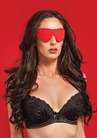 Ouch Reversible Eyemask Blindfold O/S Red